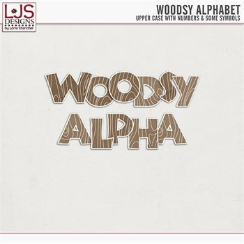 Woodsy Alpha Digital Art - Digital Scrapbooking Kits