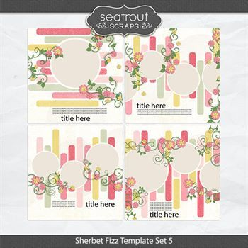 Sherbet Fizz Template Set 5