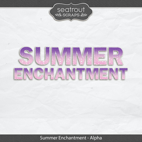 Summer Enchantment Alpha Digital Art - Digital Scrapbooking Kits