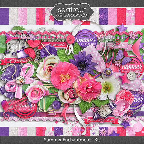 Summer Enchantment Kit Digital Art - Digital Scrapbooking Kits