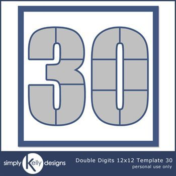 Double Digits 12x12 Template 30