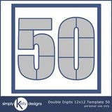 Double Digits 12x12 Template 50