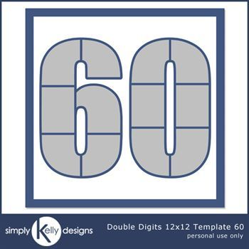 Double Digits 12x12 Template 60