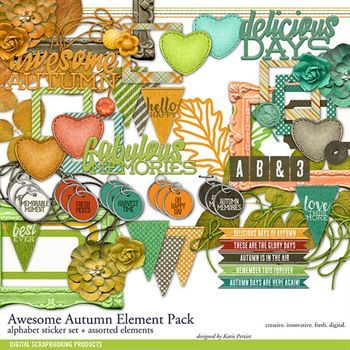 Awesome Autumn Element Pack
