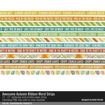 Awesome Autumn Ribbon Word Strips