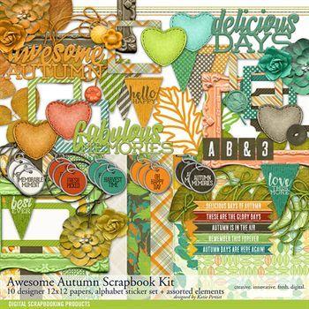 Awesome Autumn Scrapbook Kit