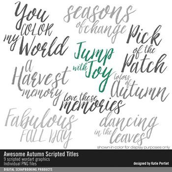 Awesome Autumn Scripted Titles Brushes And Stamps