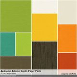 Awesome Autumn Solids Paper Pack