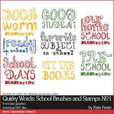 Quirky Words School Brushes And Stamps No. 01
