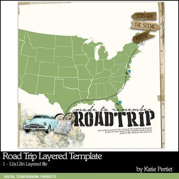 Road Trip Layered Template