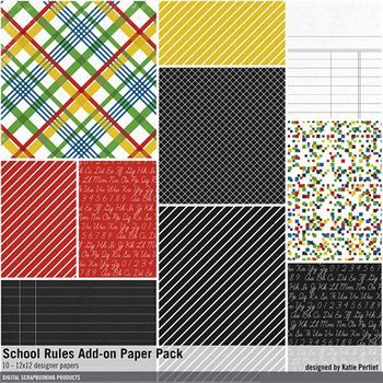 School Rules Add-on Paper Pack