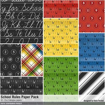 School Rules Paper Pack