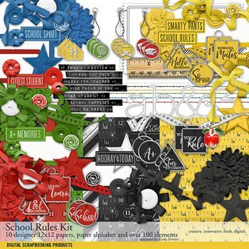 School Rules Scrapbook Kit