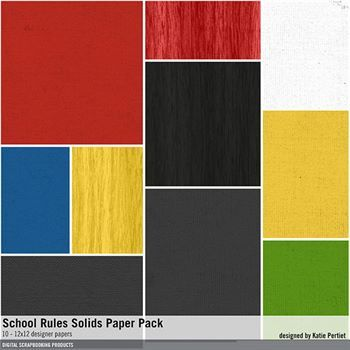 School Rules Solids Paper Pack