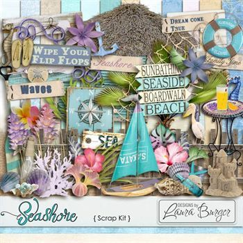 Seashore Scrap Kit