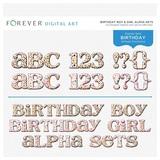 Birthday Boy & Girl Alpha Sets