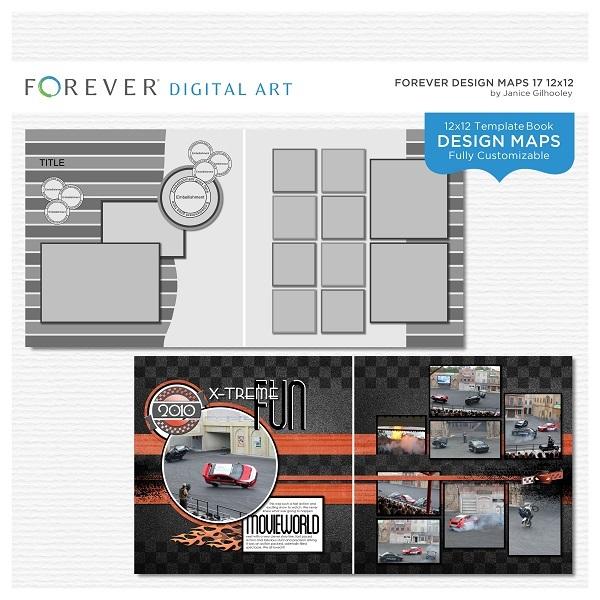 Forever Design Maps 17 12x12