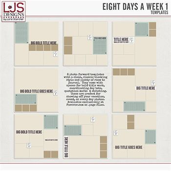Eight Days A Week 1 - Templates