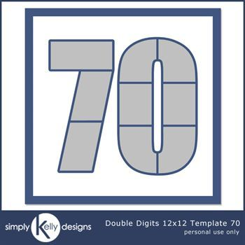 Double Digits 12x12 Template 70