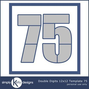 Double Digits 12x12 Template 75