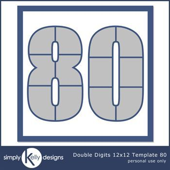 Double Digits 12x12 Template 80
