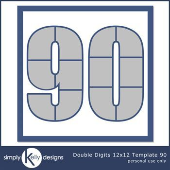 Double Digits 12x12 Template 90