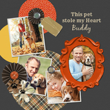 My Pet, My Heart Square Canvas