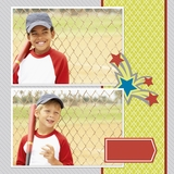 Sporty 12x12 Digital Predesigned Pages