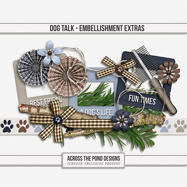 Dog Talk - Embellishment Extras Digital Art - Digital Scrapbooking Kits