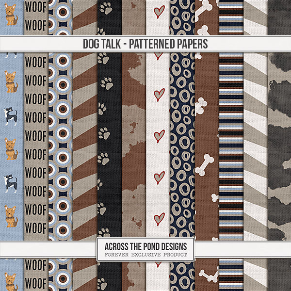 Dog Talk - Patterned Papers