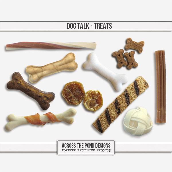 Dog Talk - Treats Digital Art - Digital Scrapbooking Kits