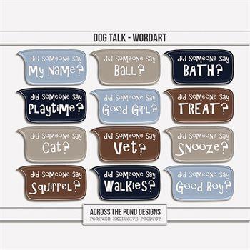 Dog Talk - Word Art