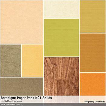Botanique Solids Paper Pack No. 01