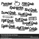 First Grade Brushes And Stamps