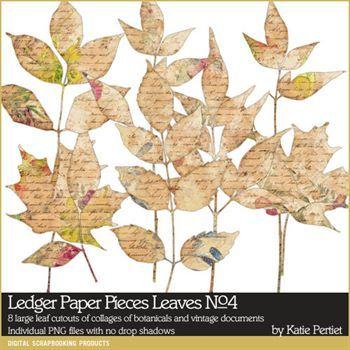 Ledger Paper Pieces Leaves No. 04