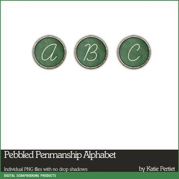 Pebbled Penmanship Alphabet