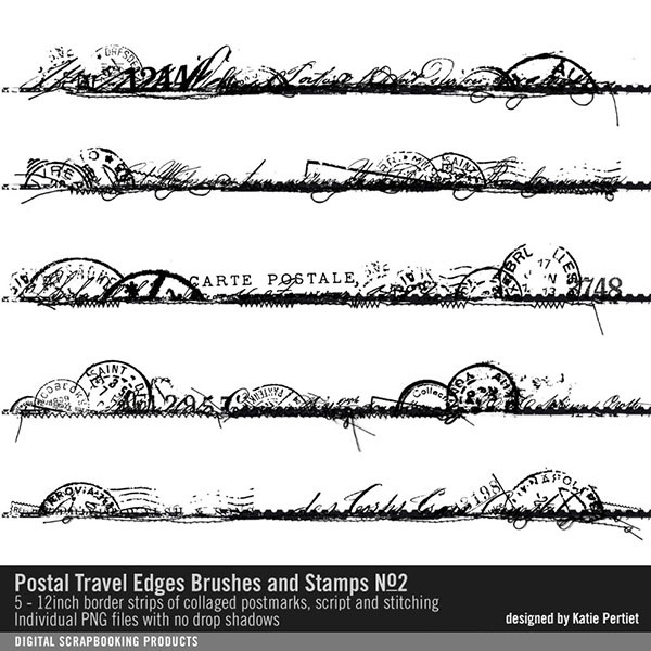 Postal Travel Edges Brushes And Stamps No. 02