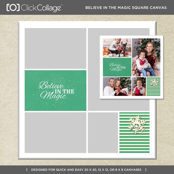 Believe In The Magic Square Canvas
