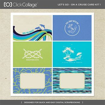 Let's Go On A Cruise Card Kit 1