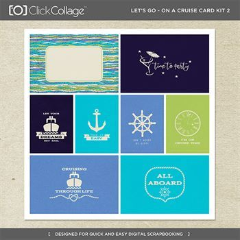 Let's Go On A Cruise Card Kit 2