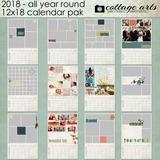 2018 All Year Round Calendar