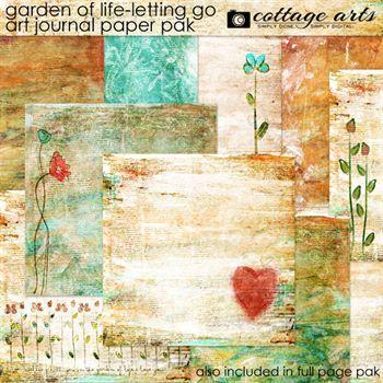 Garden Of Life - Letting Go Art Journal Paper Pak