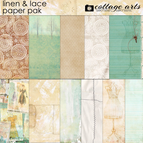 Linen And Lace Paper Pak