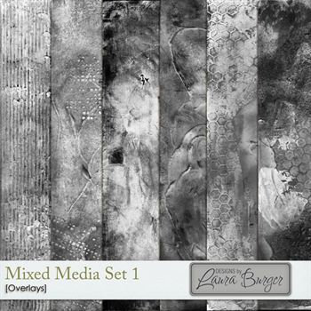 Mixed Media Overlays Set 1