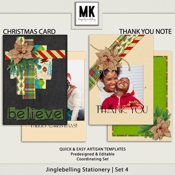 Jinglebelling - Christmas Card Set IV