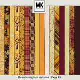 Meandering Into Autumn - Page Kit