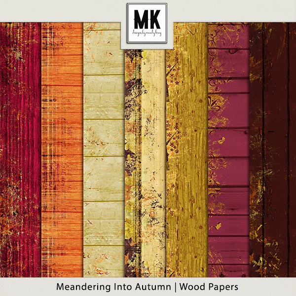 Meandering Into Autumn - Wood Papers