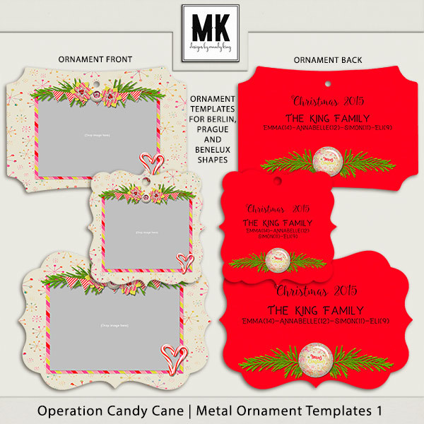 Operation Candy Cane - Metal Ornaments