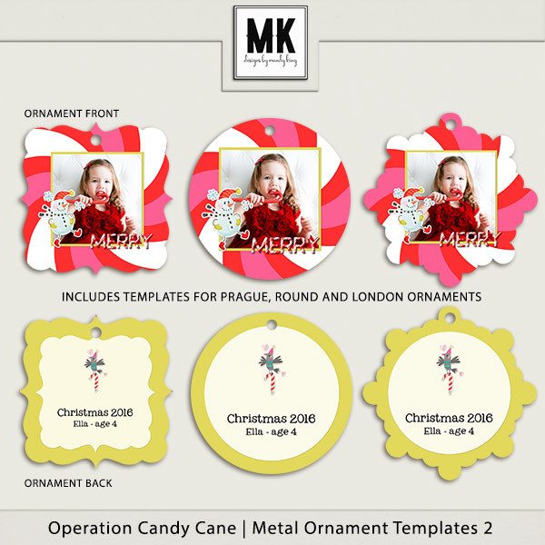 Operation Candy Cane - Metal Ornaments 2