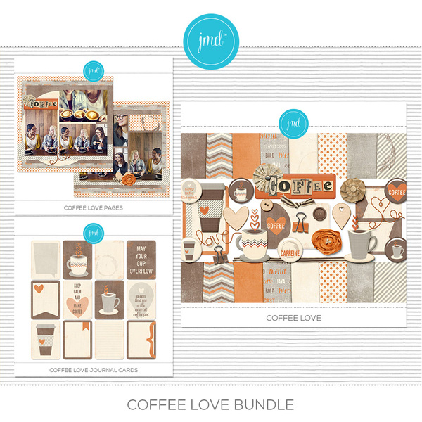 Coffee Love Bundle Digital Art - Digital Scrapbooking Kits